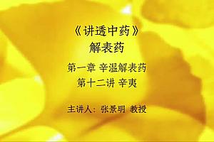 张景明讲透中药视频全集百度云网盘下载《讲透中药》高清电子视频购买