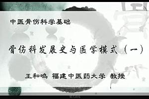 王和鸣中医骨伤科学基础视频教程福建中医药大学教授百度云网盘下载观看
