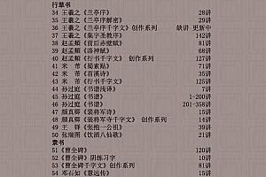 陈忠建书法视频全集楷行隶颜真卿欧阳询王羲之兰亭序书法基本笔画百度网盘免费下载