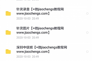 潘晓川针灵初中高级班药精中医易经视频教程百度网盘下载