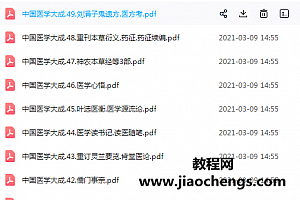 中国医学大成电子版共50册全集百度云网盘下载学习