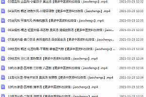 杨阳零基础读懂《方剂学》四天高清视频49集百度网盘下载学习