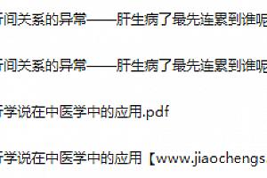 张景明中医视频课程中医哲学基础12集高清百度云网盘下载学习