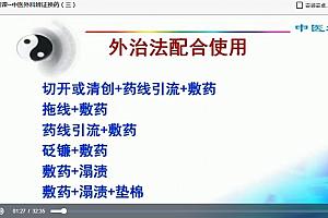 上海中医药大学中医外科学视频课程陈红风116讲完整版百度云网盘下载学习中医视频