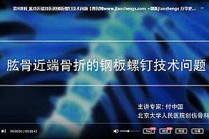 北京大学人民医院付中国肩关节损伤治疗认识与技术视频课程百度云网盘下载学习医学视频教程
