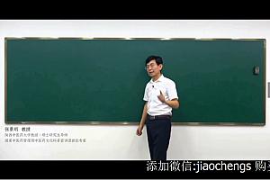 张景明五行学说阴阳学说中医基础视频讲座课程百度云网盘在线观看学习下载