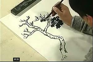 徐建明山水树木的画法技巧松树柏树四季树平远深远构图技法视频教程百度云网盘下载学习美术视频