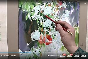 申宗植水彩画高清视频教程41集百度云网盘下载学习水彩画视频