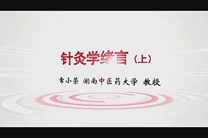 湖南中医药大学常小荣针灸学77集视频教程百度云网盘下载学习中医针灸视频教程